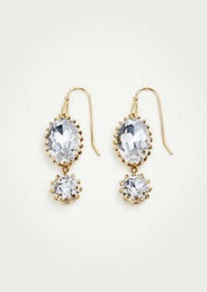 Ann Taylor Double Crystal Drop Earrings