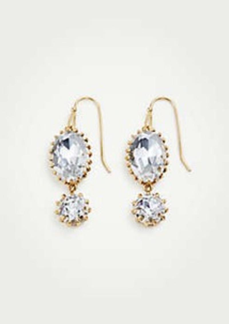 Ann Taylor Double Crystal Drop Earrings