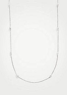 Ann Taylor Double Crystal Station Necklace