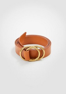 Ann Taylor Double Ring Leather Belt