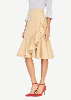Ann Taylor Double Ruffle Midi Skirt