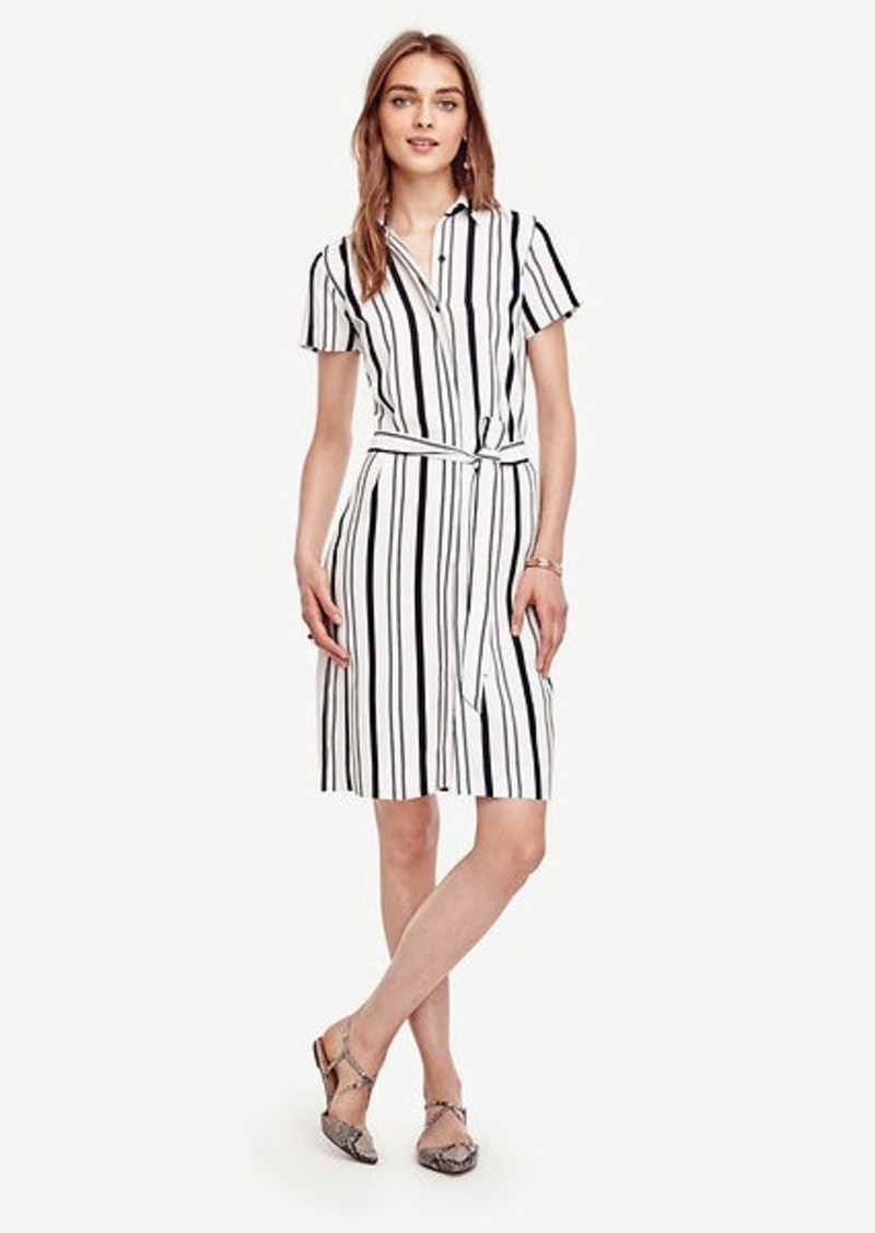 Ann Taylor Double Stripe Shirtdress