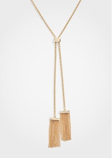 Ann Taylor Double Tassel Pendant Necklace