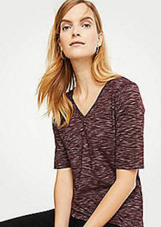 Ann Taylor Double V Elbow Sleeve Top