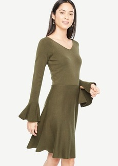Double V Flare Sweater Dress