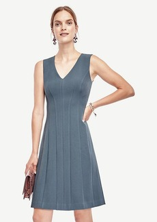 Ann Taylor Doublecloth Seamed Flare Dress