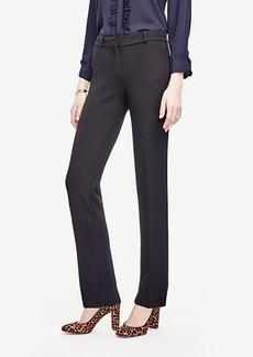 Ann Taylor Doublecloth Straight Leg Pants