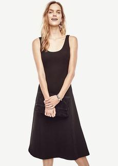 Ann Taylor Doubleface Flare Dress