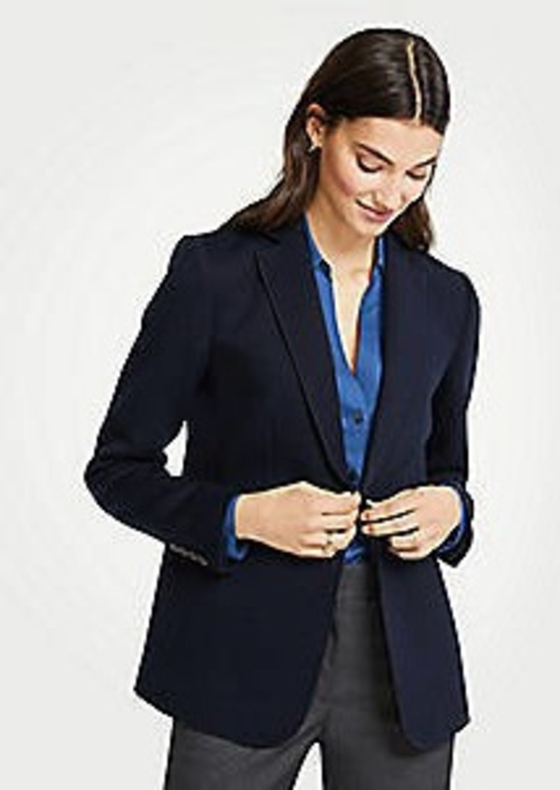 Ann Taylor Doubleface One Button Blazer