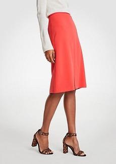 Ann Taylor Doubleweave A-Line Skirt