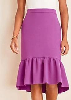 Ann Taylor Doubleweave Flounce Skirt