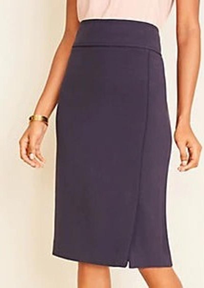 Ann Taylor Doubleweave Pencil Skirt