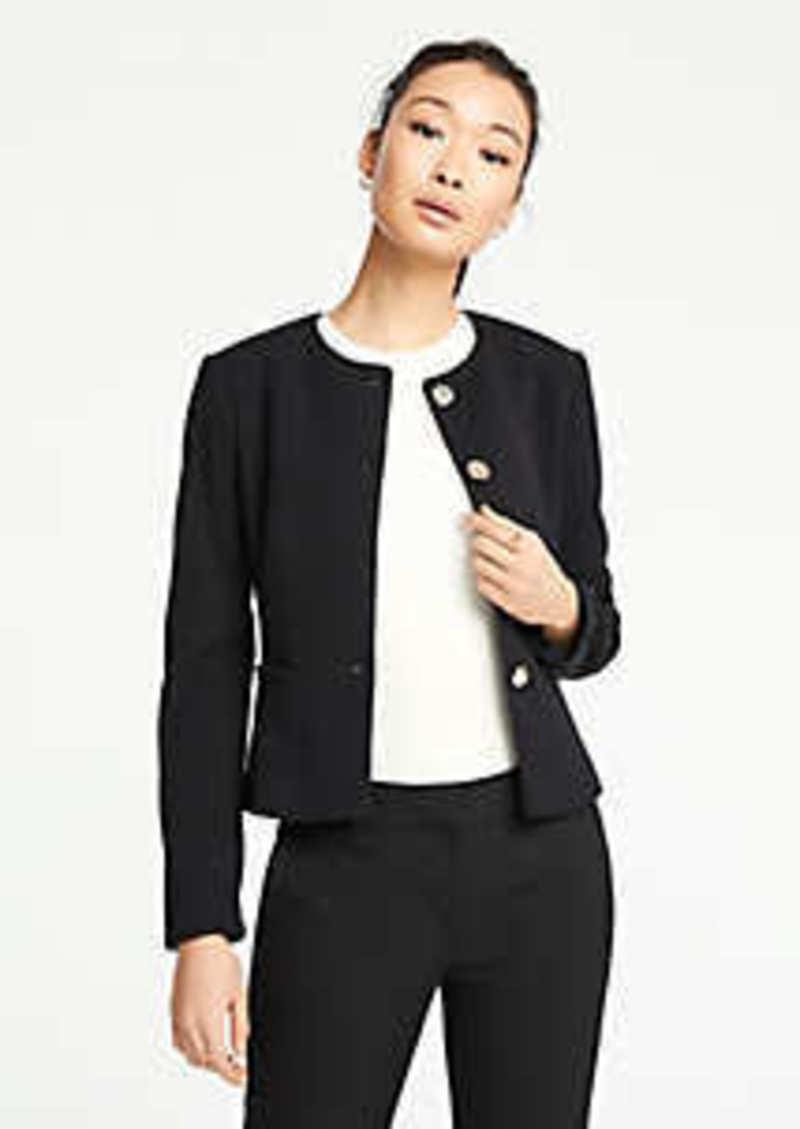 Ann Taylor Double Cloth Peplum Jacket