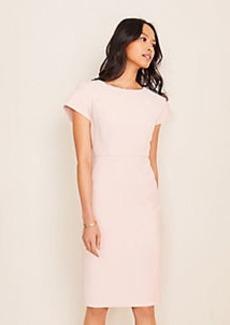 Ann Taylor Doubleweave Pleat Sleeve Sheath Dress
