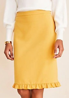 Ann Taylor Doubleweave Ruffle Hem Pencil Skirt