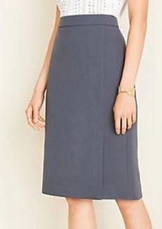 Ann Taylor Doubleweave Slit Skirt