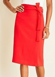 Ann Taylor Doubleweave Tie Waist Pencil Skirt