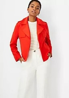 Ann Taylor Draped Cropped Trench Jacket