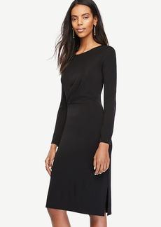 Draped Matte Jersey Sheath Dress