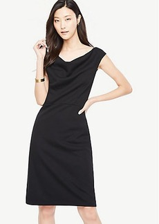 Draped Ponte Sheath Dress