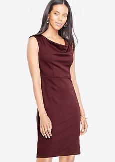 Draped Ponte Sheath Dress