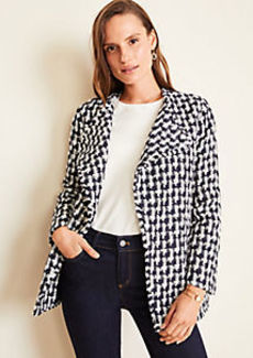 Ann Taylor Draped Tweed Jacket