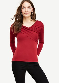 Draped V-Neck Top