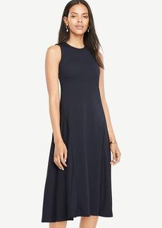 Drapey Midi Flare Dress