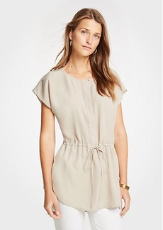 Ann Taylor Drawstring Tunic Top