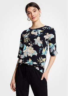 Ann Taylor Easy Tee In Chinoiserie Tropics