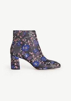 Eden Floral Jacquard Heeled Booties
