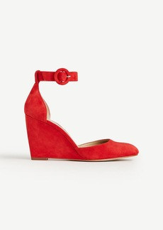 Edith Suede Wedges