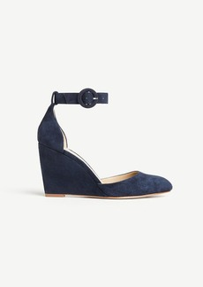 Ann Taylor Edith Suede Wedges