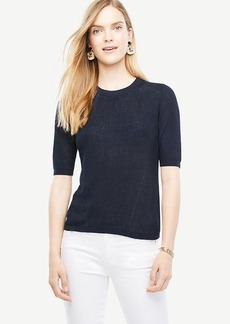 Elbow Sleeve Knit Tee