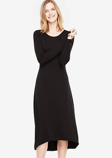 Elliptical Hem Midi Dress