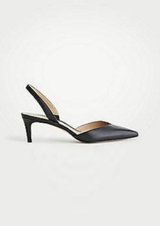 Ann Taylor Elora Leather Slingback Pumps