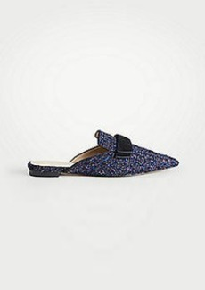 Ann Taylor Elsie Tweed Bow Slides