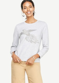 Ann Taylor Embroidered Bird Sweatshirt
