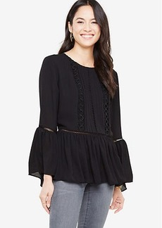 Embroidered Lacy Flounce Blouse