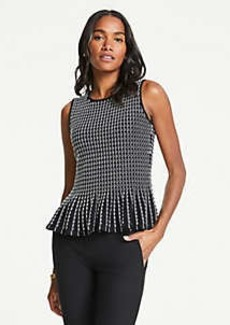 Ann Taylor Embroidered Peplum Sleeveless Sweater