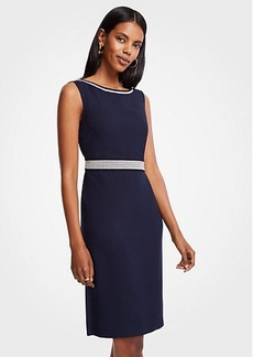 Ann Taylor Embroidered Sheath Dress
