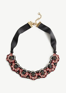 Ann Taylor Embroidered Statement Necklace
