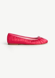 Emery Satin Bow Ballet Flats