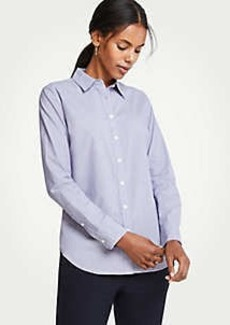 Ann Taylor End On End Cotton Perfect Shirt