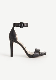 Ann Taylor Eveline Leather Ankle Strap Sandals
