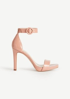 Eveline Patent Leather Ankle Strap Sandals