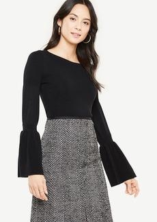 Extrafine Merino Wool Flare Sleeve Sweater