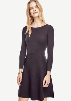 Ann Taylor Extrafine Merino Wool Flare Sweater Dress