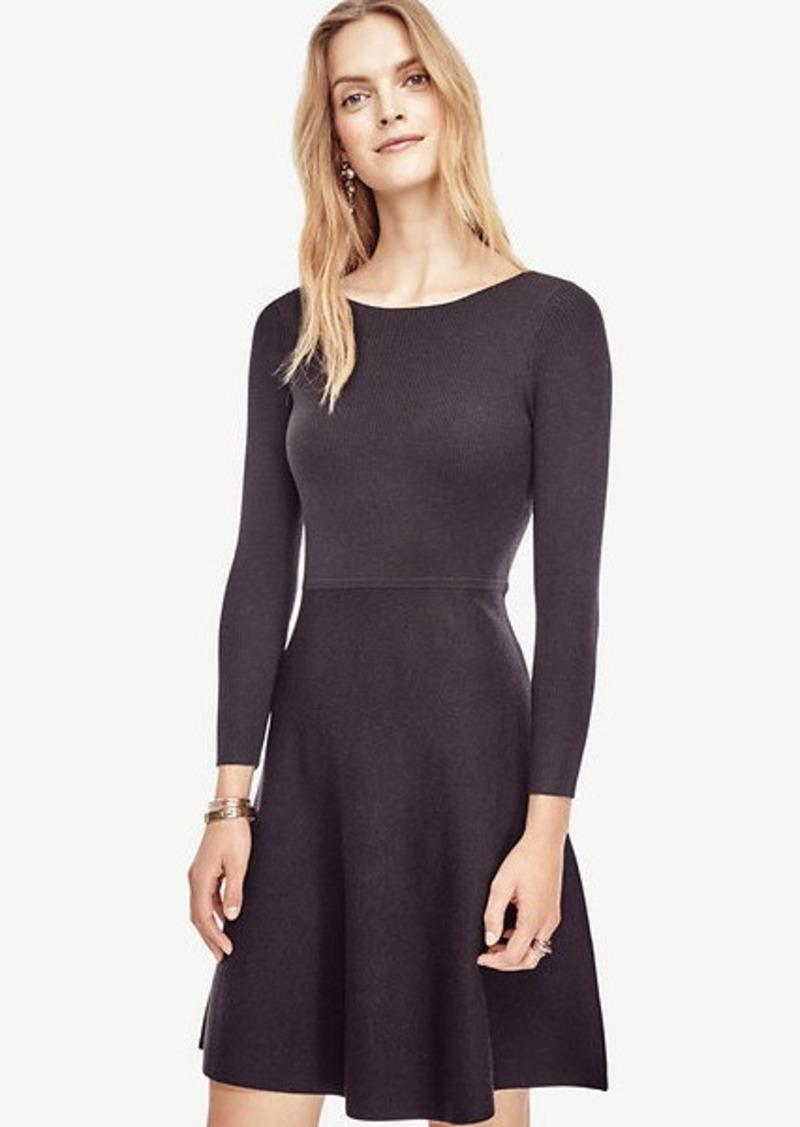 6285972de4a Ann Taylor Extrafine Merino Wool Flare Sweater Dress
