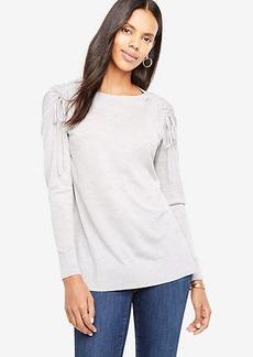 Extrafine Merino Wool Shoulder Tie Sweater